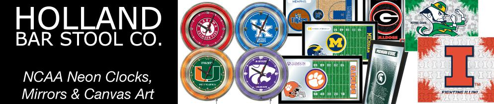 NCAA Neon Clocks, Mirrors & Canvas Art