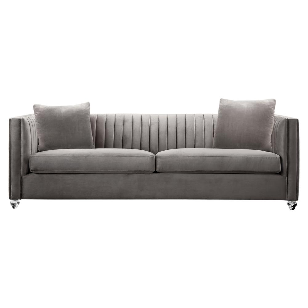 Sofa Pillows Contemporary: Emperor Contemporary Sofa With Acrylic Finish, Beige