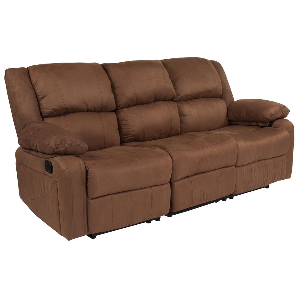 Sofas Overstock Sofa With Perfect Balance Between Comfort: Harmony Series Chocolate Brown Microfiber Sofa With Two