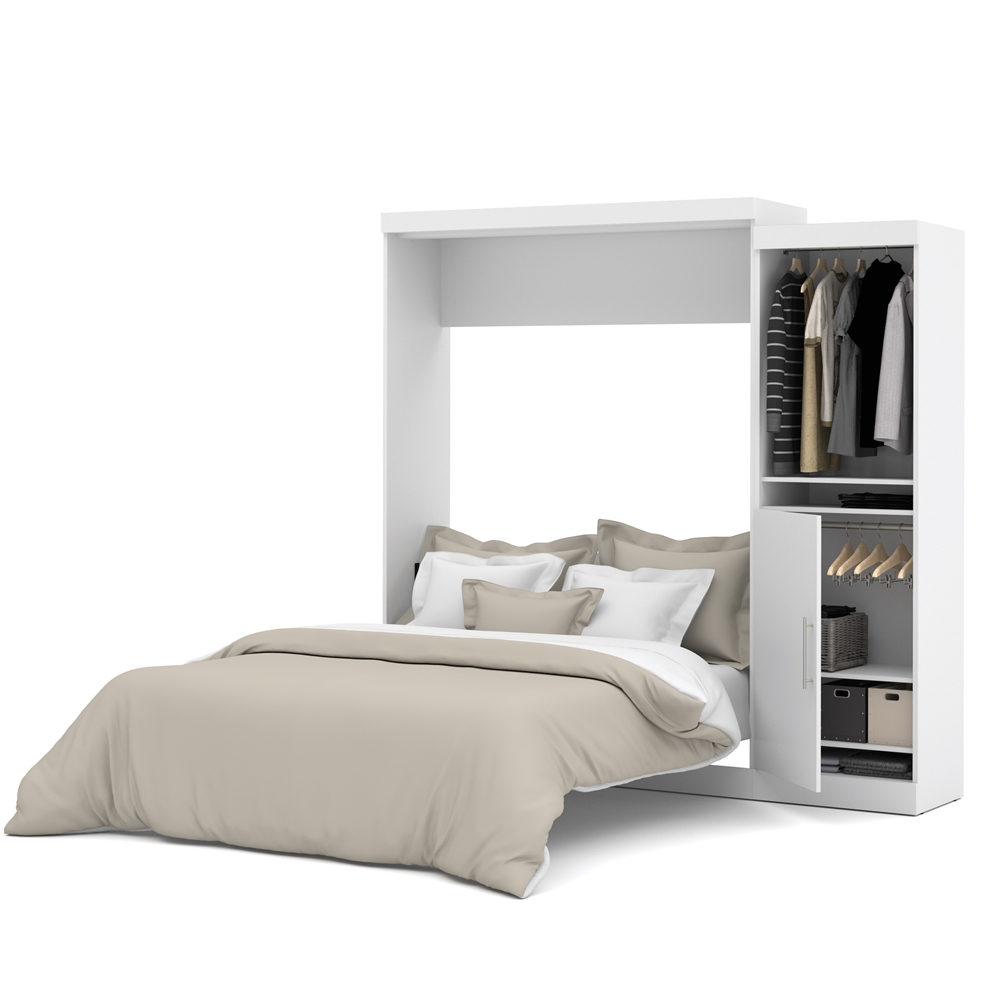 Bestar Nebula By Bestar 90 Quot Queen Wall Bed Kit In White Ebay