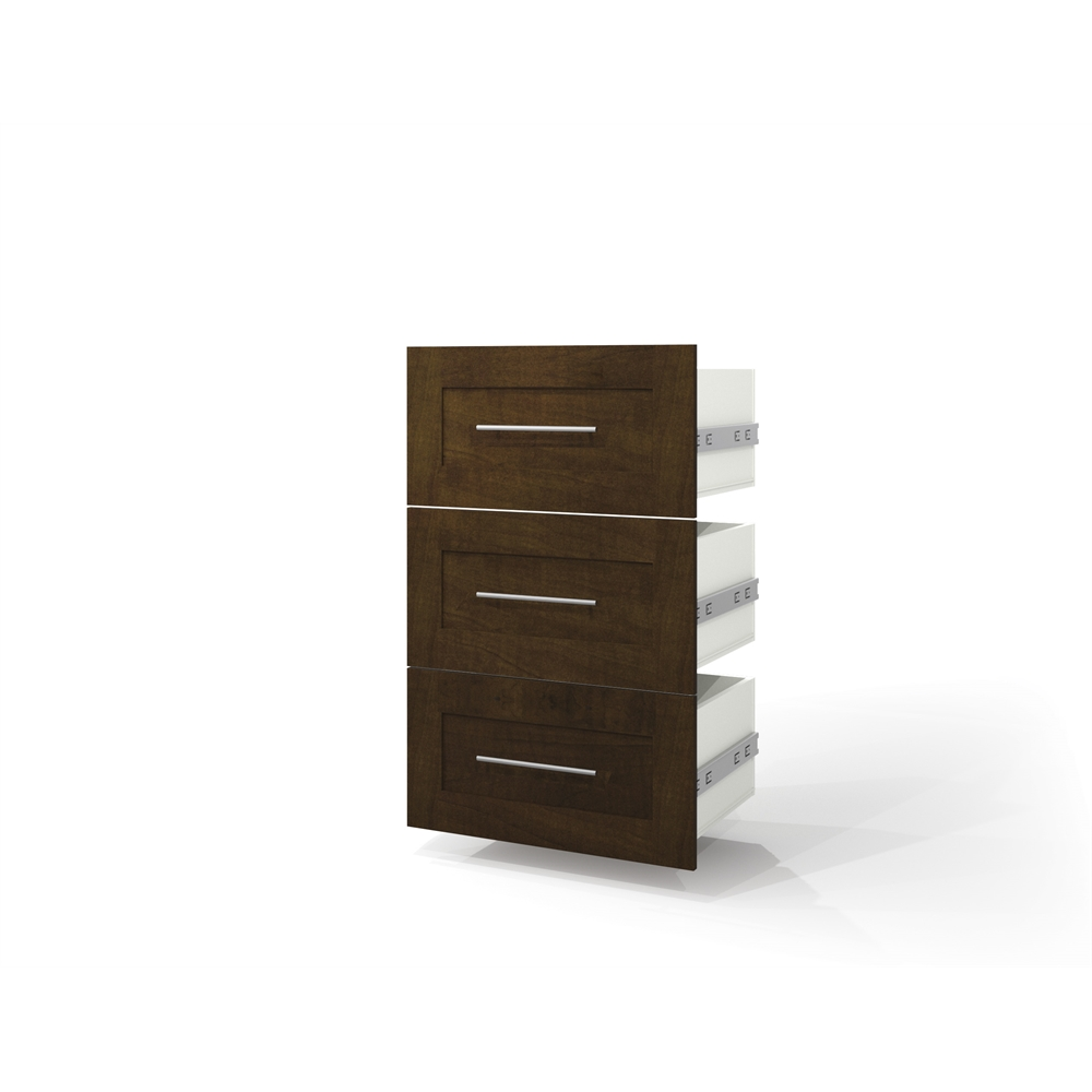 bestar pur by bestar 3 drawer set for 25 storage unit in chocolate 63753040198 ebay. Black Bedroom Furniture Sets. Home Design Ideas