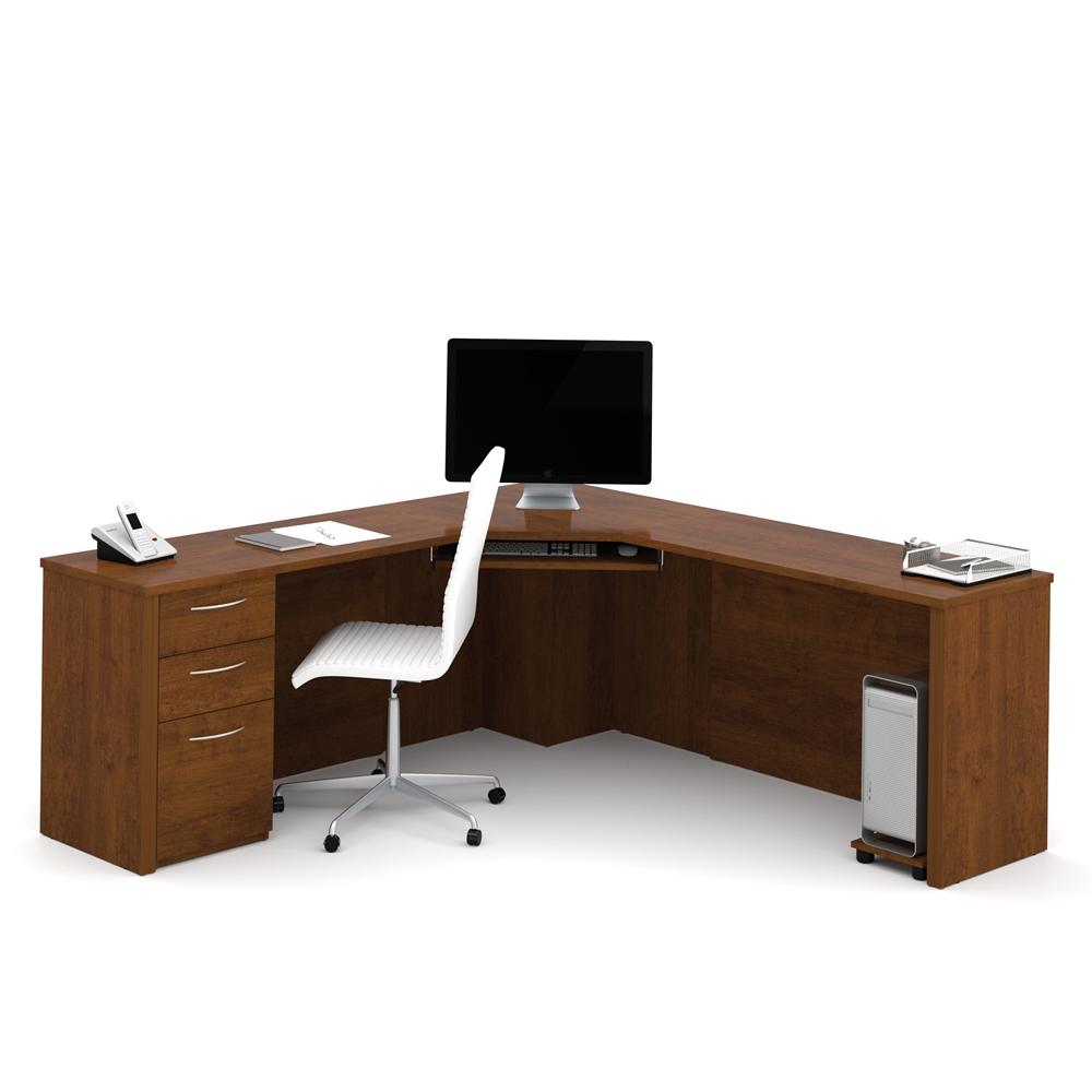bestar embassy corner desk in tuscany brown 63753050012 ebay
