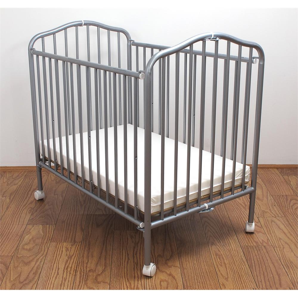 la baby mini portable compact crib pewter 692623252432 ebay. Black Bedroom Furniture Sets. Home Design Ideas