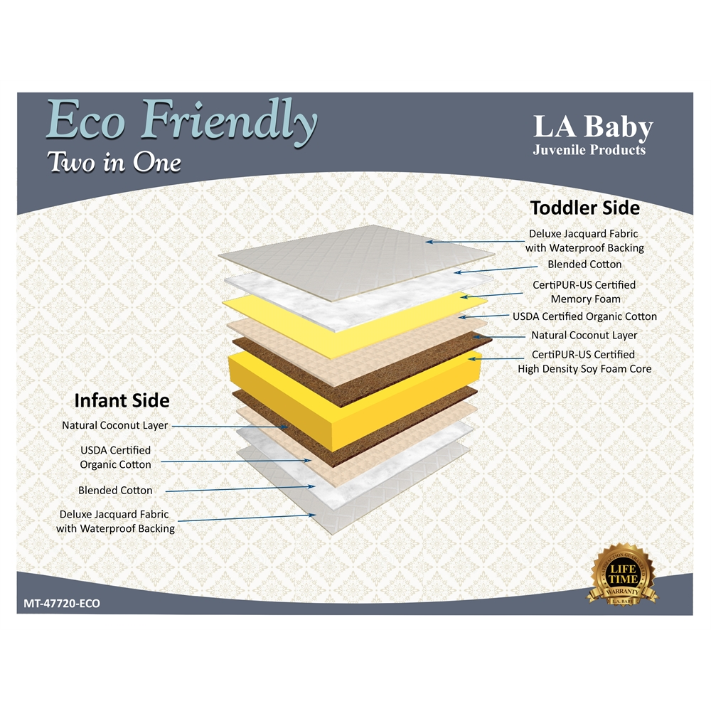 La Baby Eco Friendly Two In One Madison Jacquard Cover
