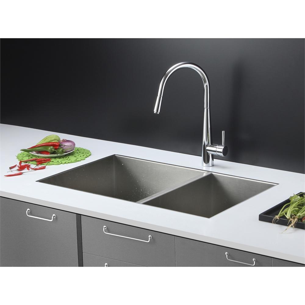 Kitchen Sink Set: Ruvati RVC2342 Stainless Steel Kitchen Sink And Chrome