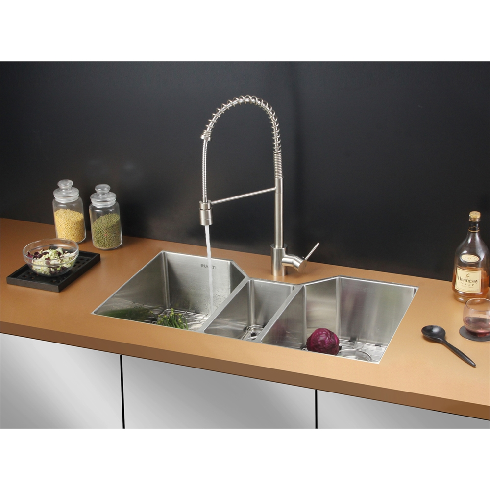Ruvati Rvc2577 Stainless Steel Kitchen Sink And Stainless Steel Faucet Set Ebay