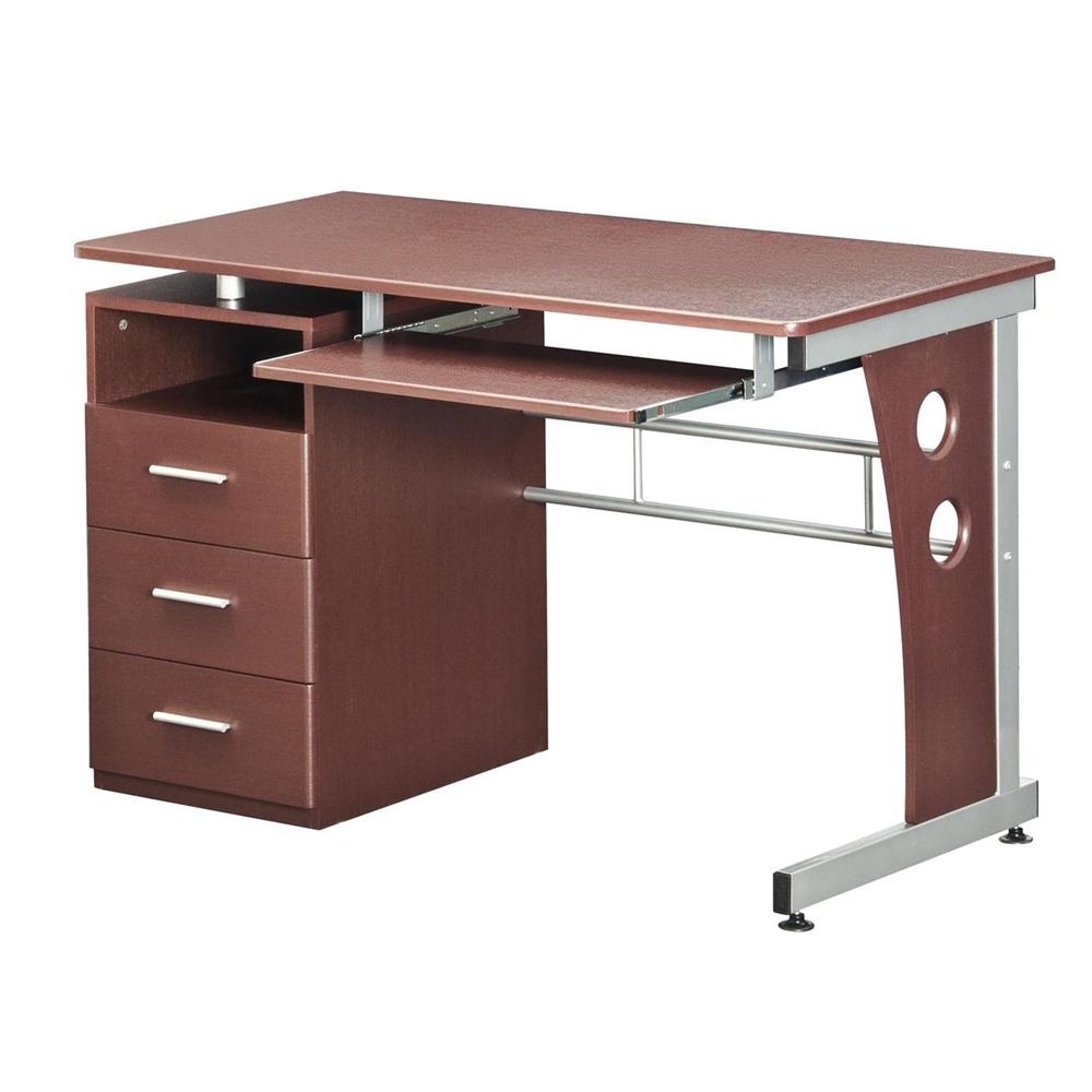 Techni mobili computer desk with ample storage color for Ample storage