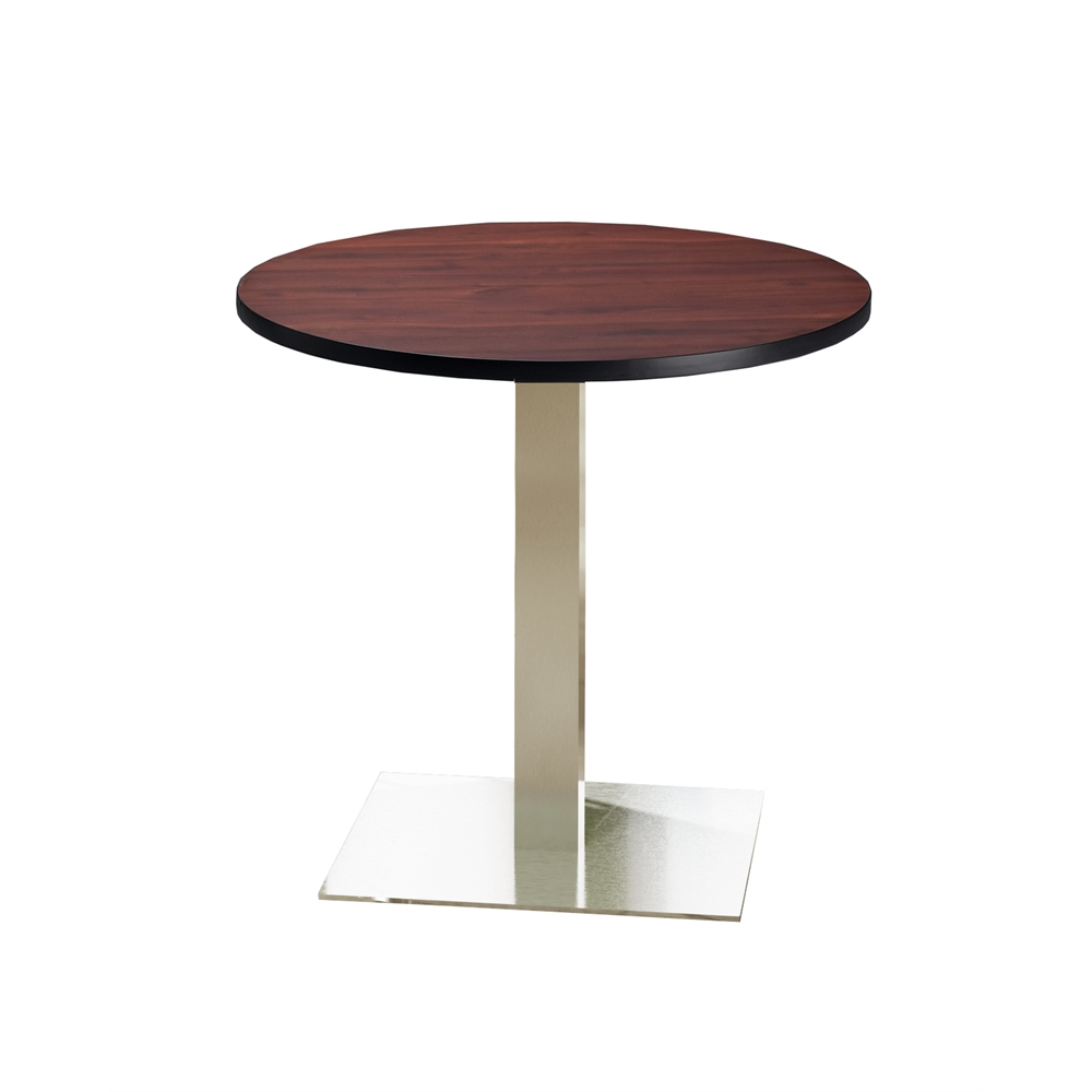 """Round Stainless Base Coffee Height Tables: Mayline 36"""" Round Dining Height Table"""