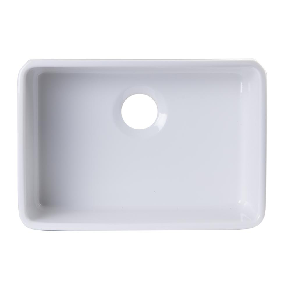 Details about 24 inch White Single Bowl Fireclay Undermount Kitchen Sink