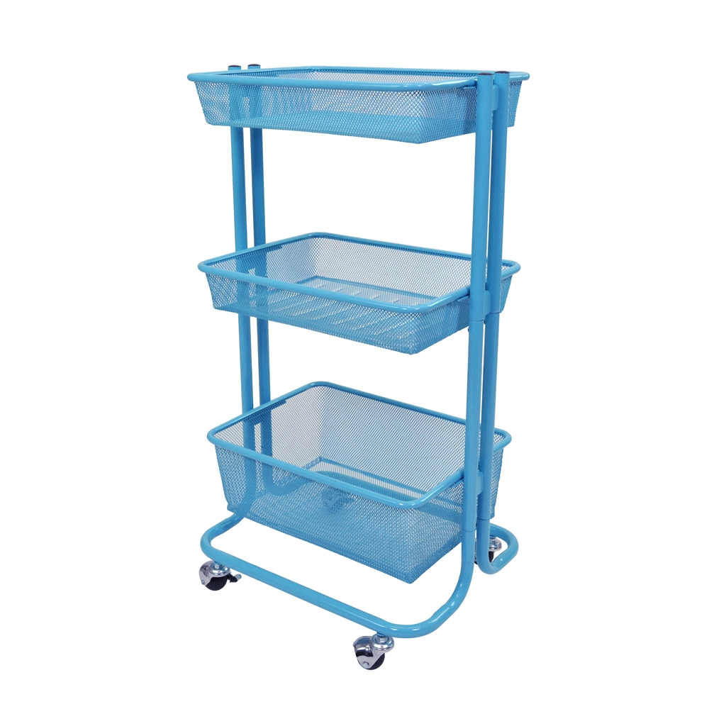 Luxor kitchen utility cart blue ebay for Kitchen utility cart