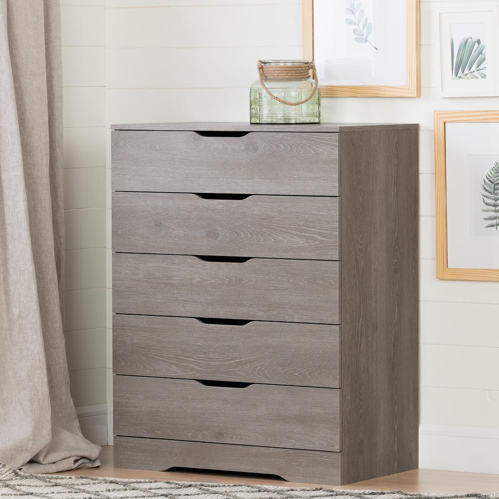 pretty nice c9817 e3f02 Details about Holland 5-Drawer Chest, Sand Oak