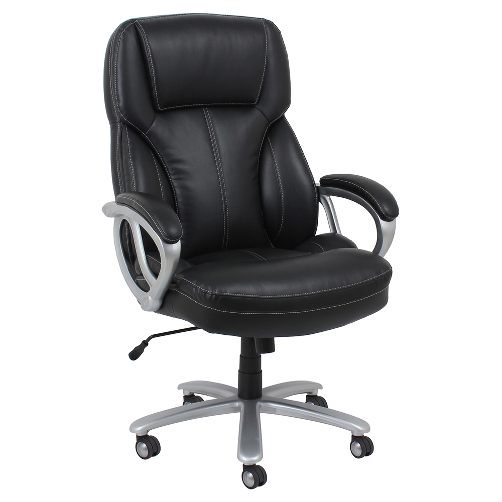 Big and Tall Leather Executive Office Chair with Arms ...