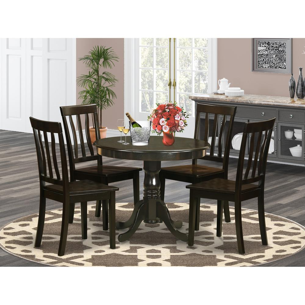 Small Breakfast Table Set: 5 Pc Small Kitchen Table Set-breakfast Nook Plus 4 Dining