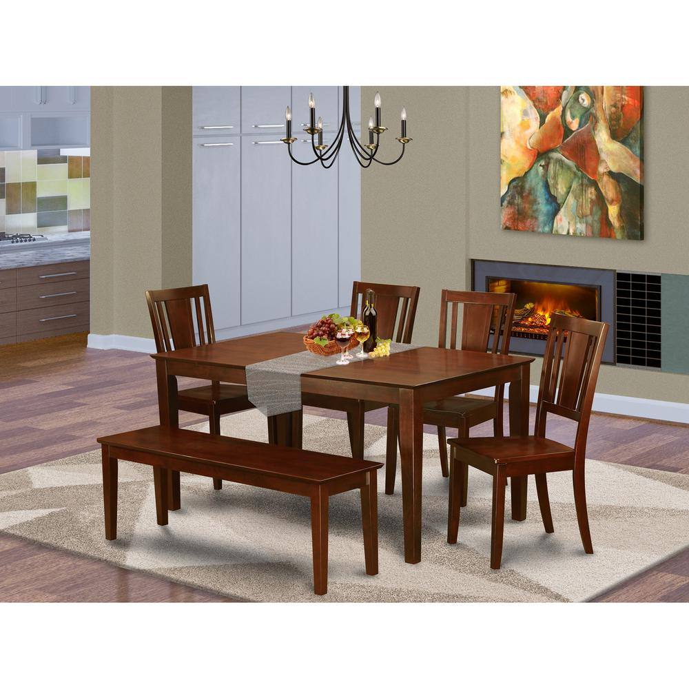 6-Pc Kitchen Table With Bench- Table And 4 Kitchen Chairs
