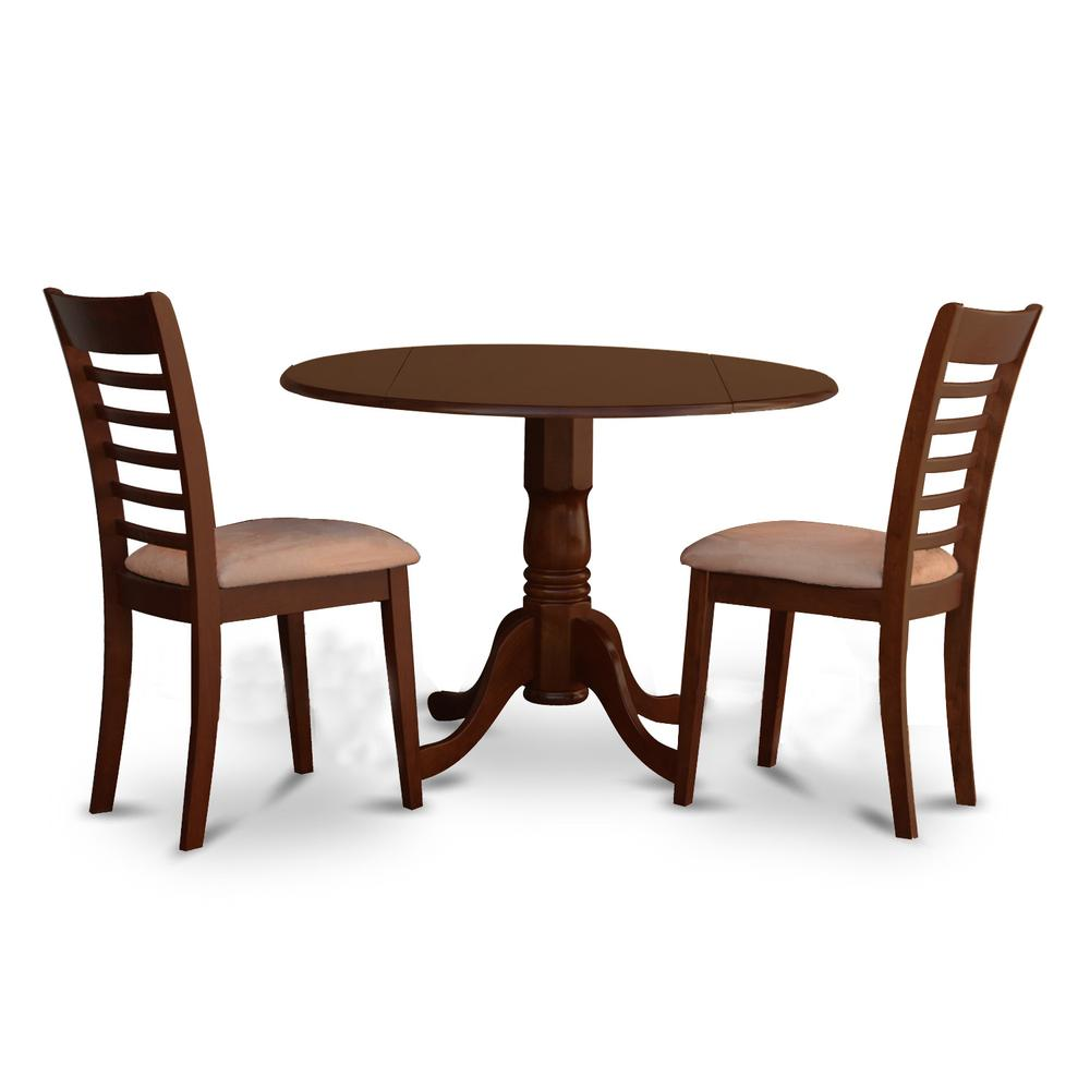 3 PC Small Kitchen Table And Chairs Set-round Kitchen