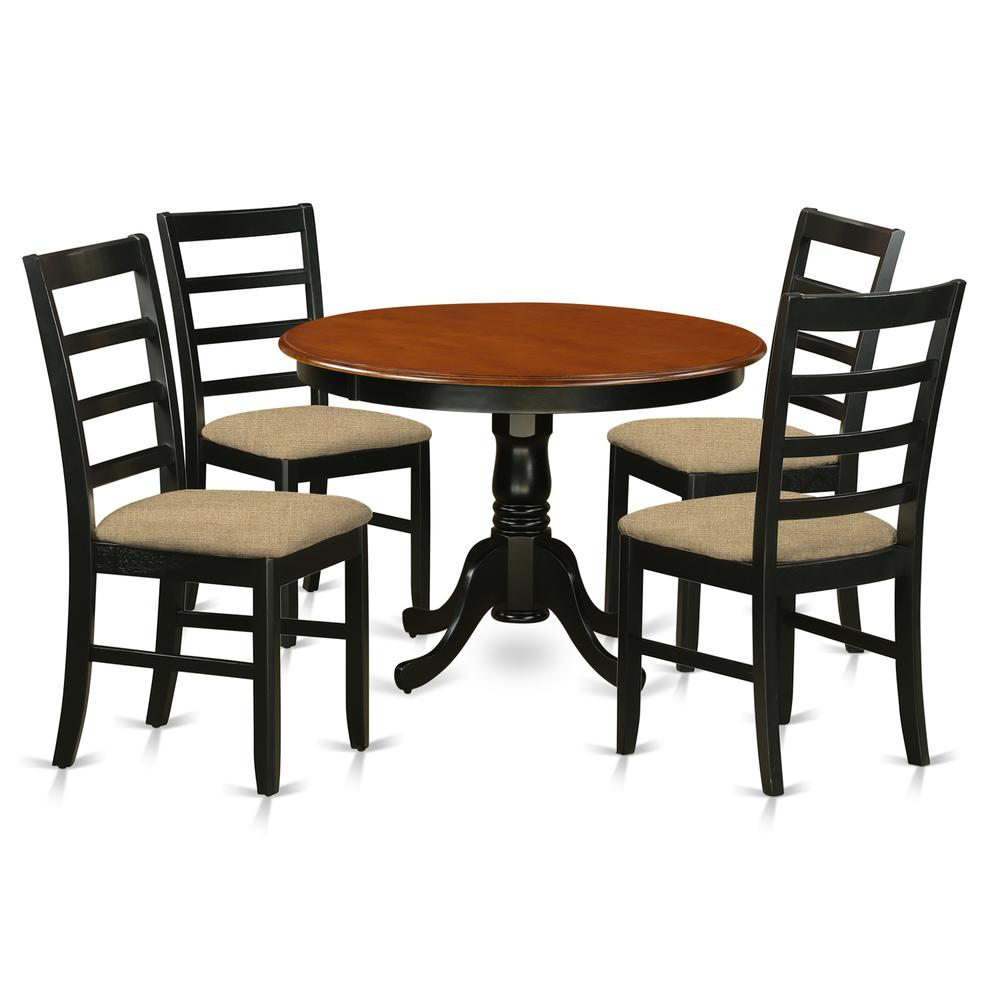Modern 5pc Dining Table Set Kitchen Dinette Chairs: 5 Pc Set With A Kitchen Table And 4 Microfiber Dinette