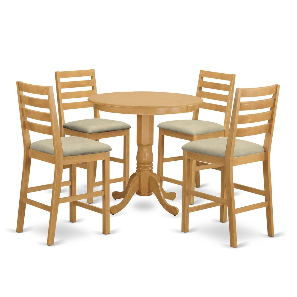 High Dining Room Table: 5 Pc Counter Height Dining Room Set