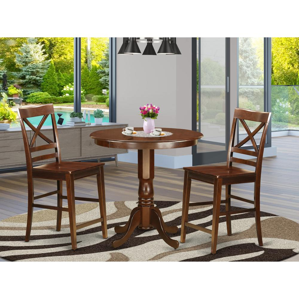 High Dining Table And Chairs: 3 Pc Dining Counter Height Set