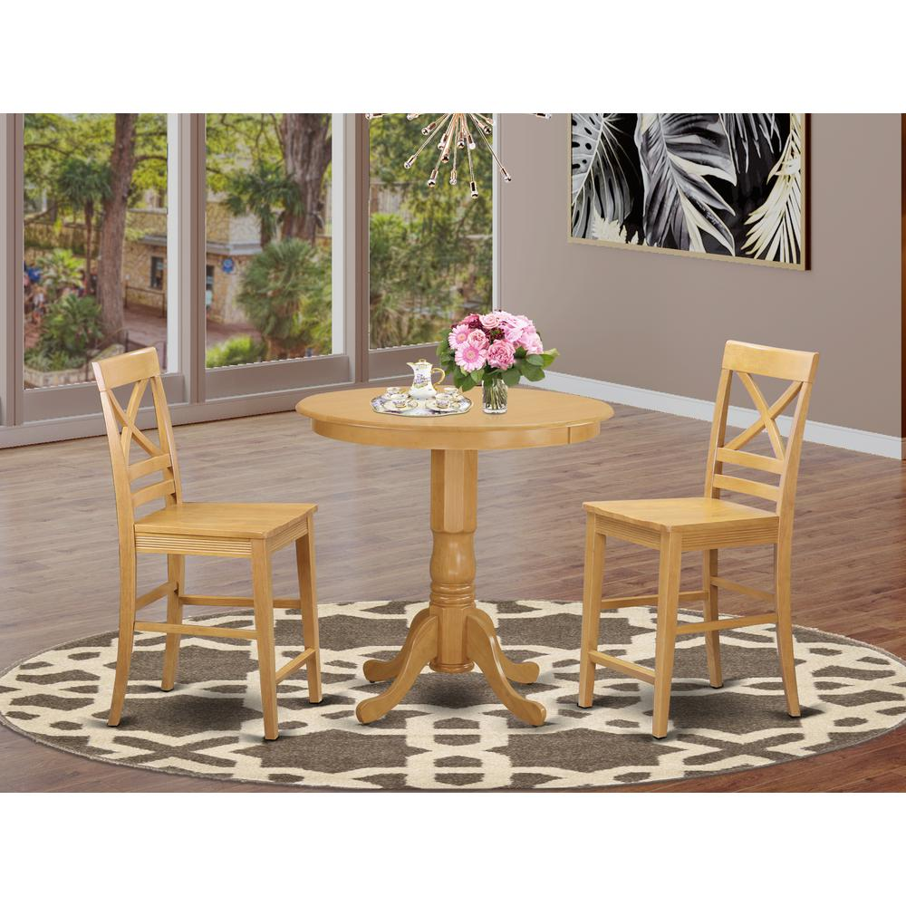 Dining Room High Tables: 3 Pc Counter Height Dining Room Set