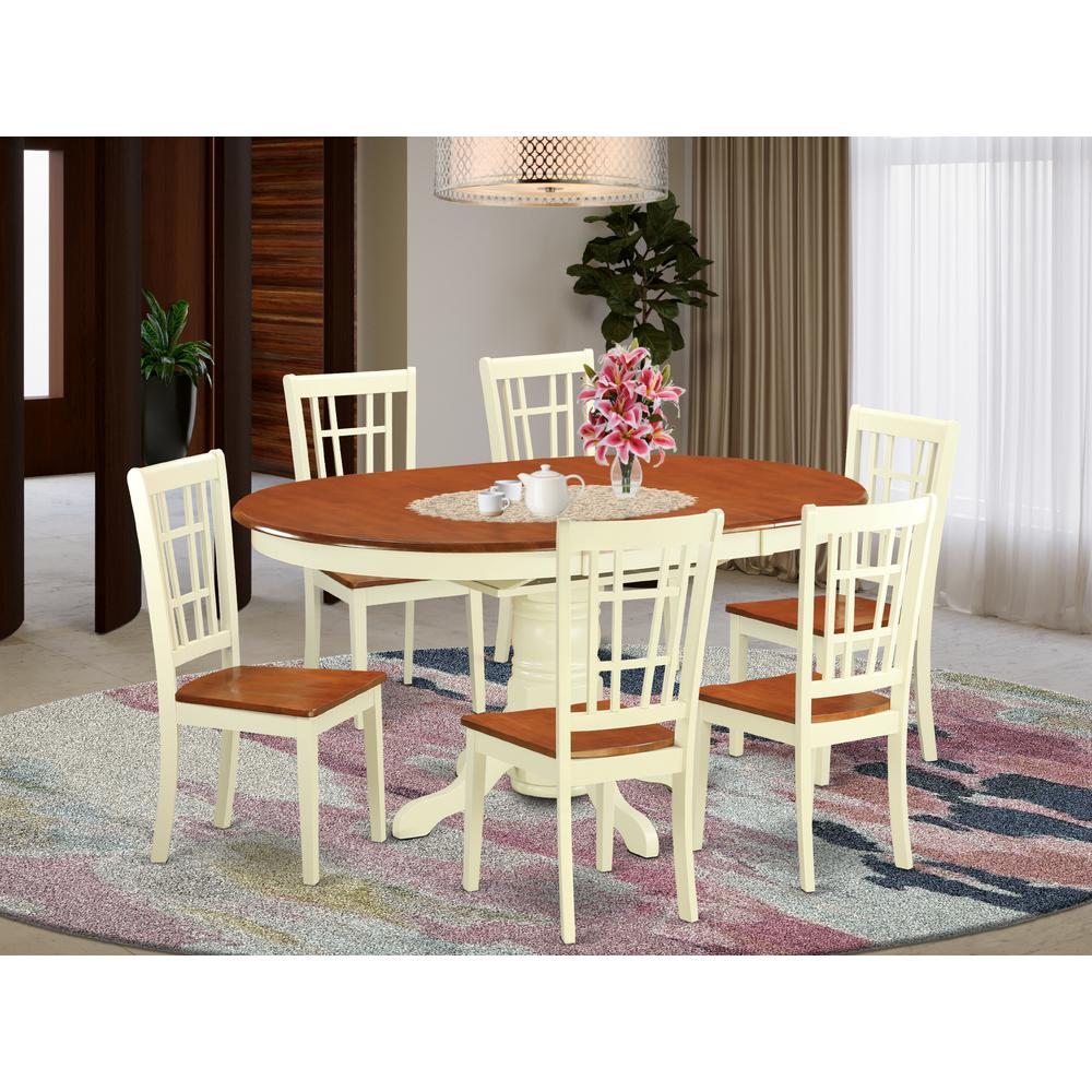 7 PC Dining Room Set -Small Kitchen Table And 6 Dining