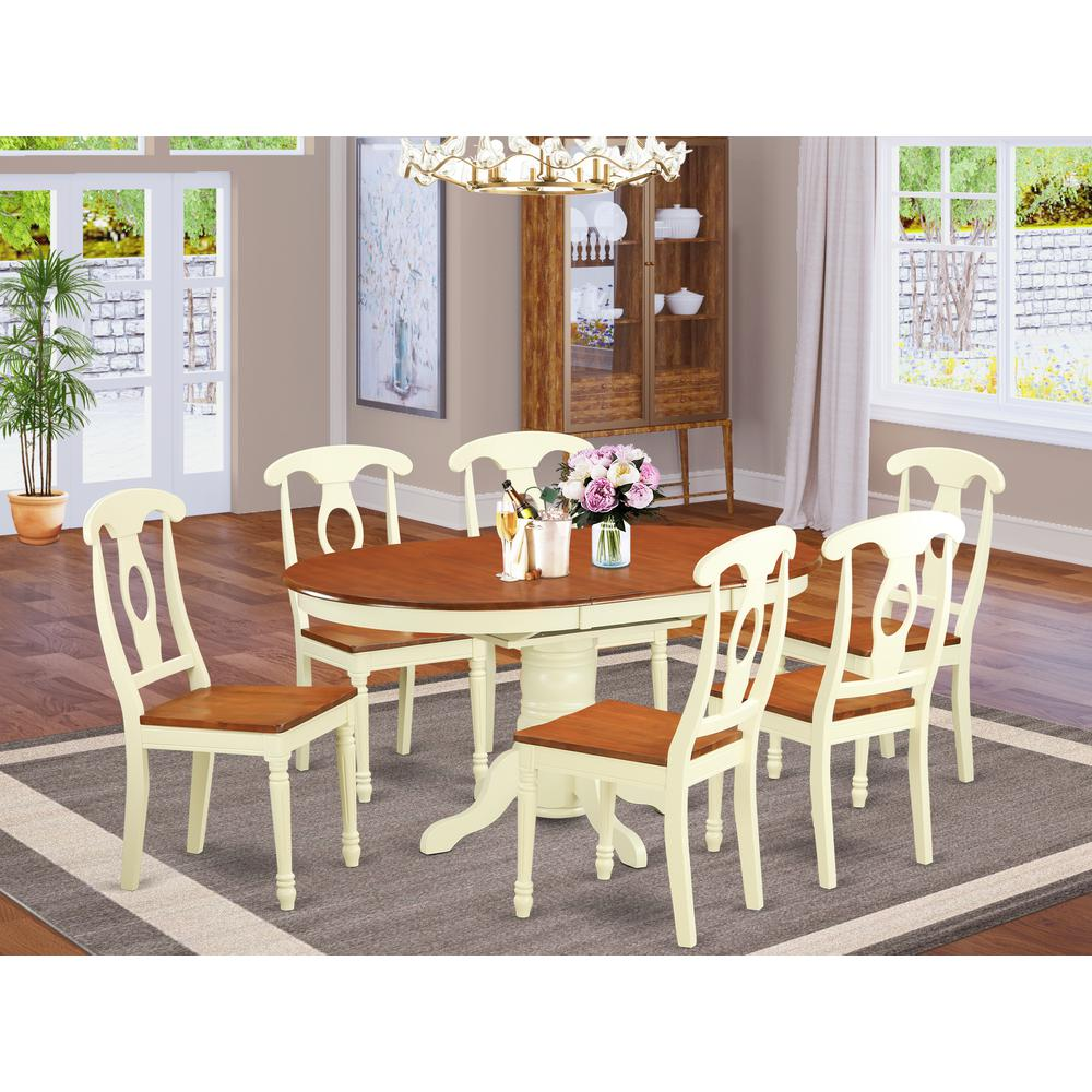 Oval Dining Room Table Sets: 7 Pc Dining Room Set For 6-Oval Dining Table And 6 Dining