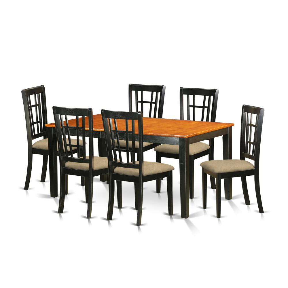 7 pc dining room set kitchen tables plus 6 kitchen chairs