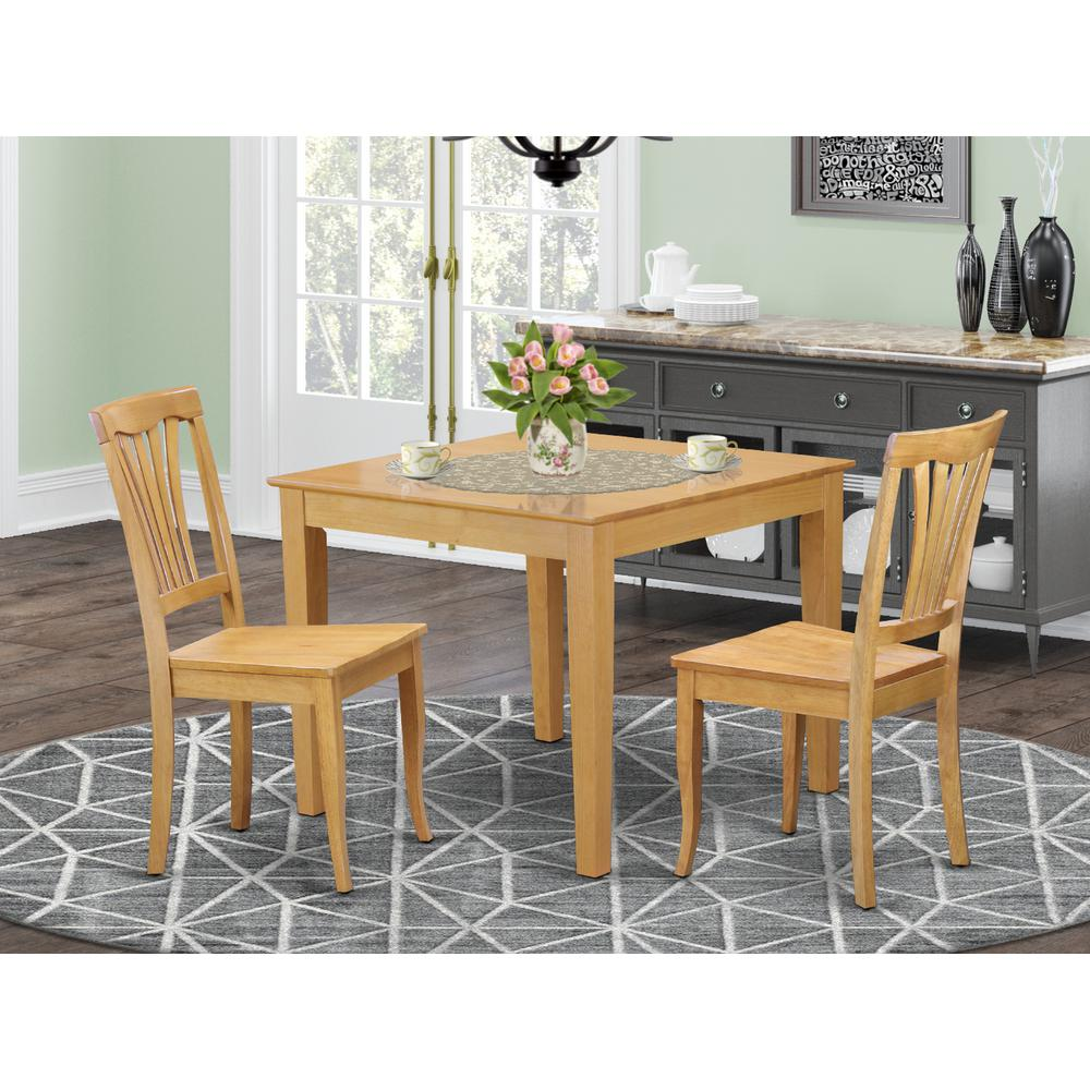 Square Kitchen Table And Chairs: 3 Pc Small Kitchen Table Set -square Table And 2 Dining
