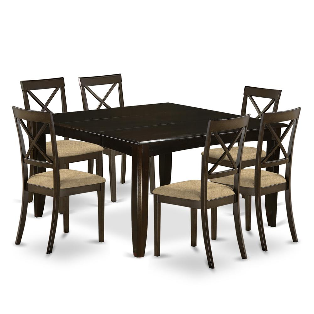 52 Kitchen Tables And Chairs Sets 7 Pc Dining Room: 7 Pc Dining Room Set-Table With Leaf And 6 Kitchen Chairs