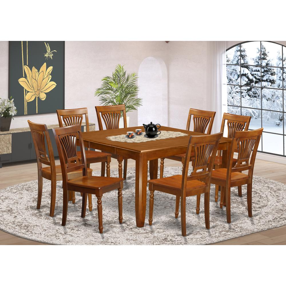 Formal Dining Sets: 9 Pc Formal Dining Set-Dining Table With Leaf And 8 Chairs