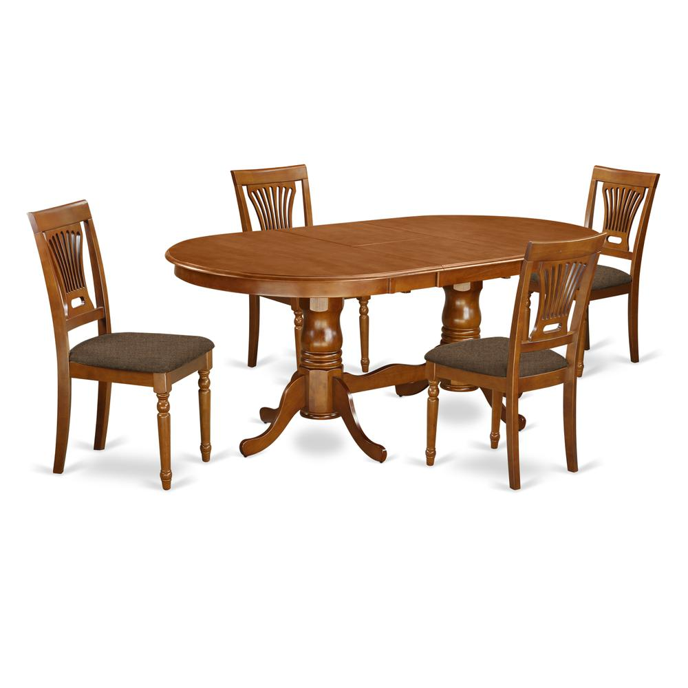 5 pc dining set dining table plus 4 kitchen dining chairs