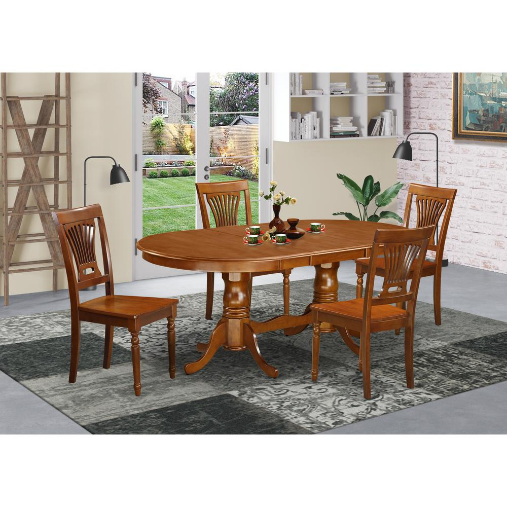5 Pc Dining Room Set Dining Table Plus 4 Dining Chairs