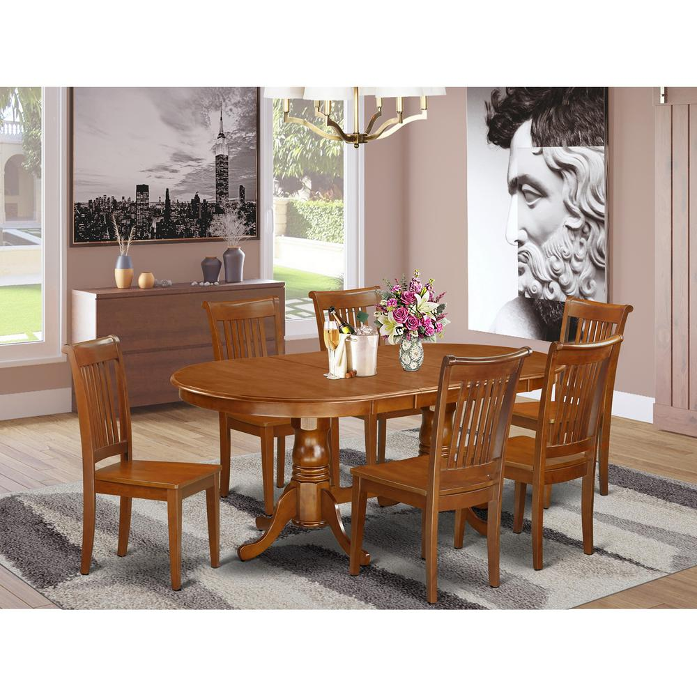 Ebay Furniture Dining Room: 7 Pc Dining Room Set For 6-Dining Table And 6 Dining