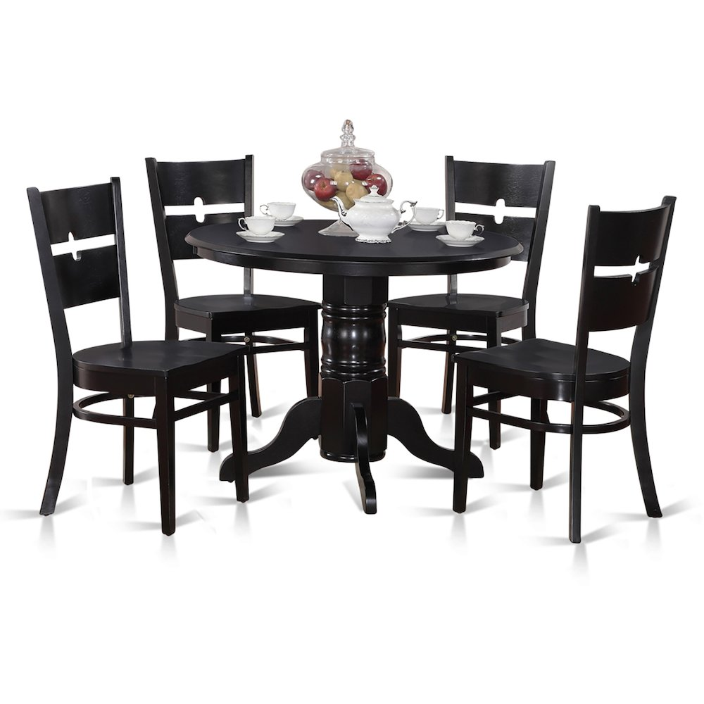 5 Pc Kitchen Nook Dining Set-Round Table Together With 4