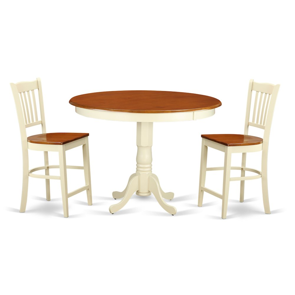 counter high dining room sets   3 PC counter height Dining room set - high top Table and 2 ...