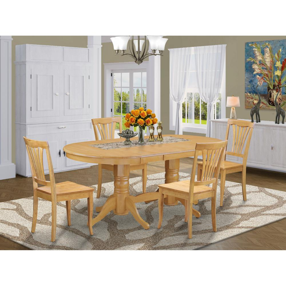 Dining Room Table With Leaf: 5 PC Dining Room Set Dining Table With Leaf And 4 Dining