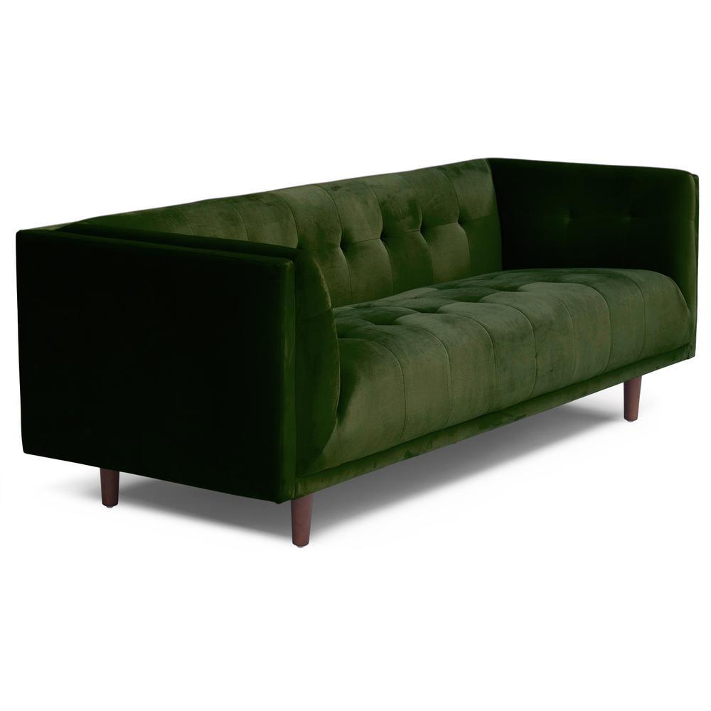 Cecily Sofa Emerald Green Velvet