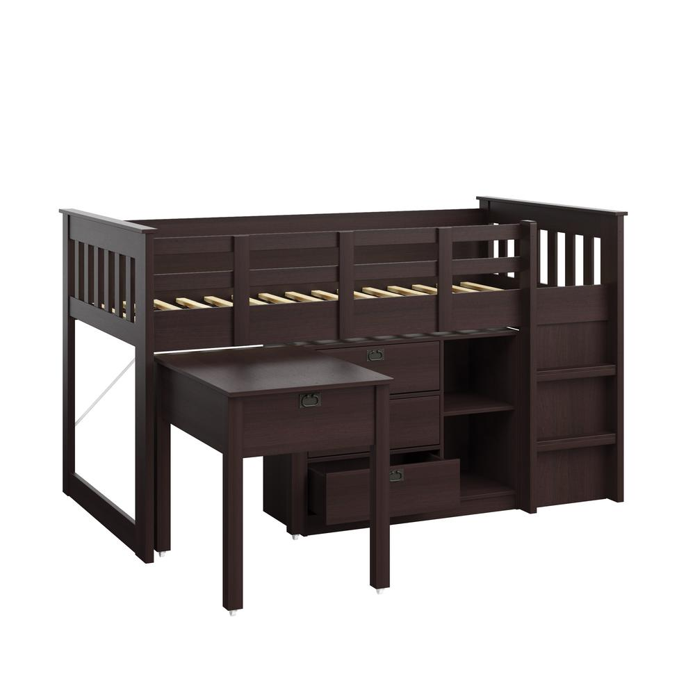 Twin Loft Bed In Rich Espresso