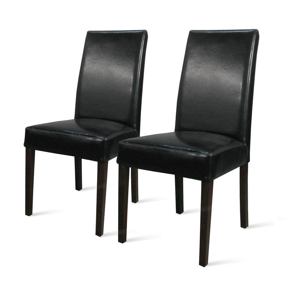 Strange Details About Hartford Bonded Leather Dining Chair Set Of 2 Black Spiritservingveterans Wood Chair Design Ideas Spiritservingveteransorg