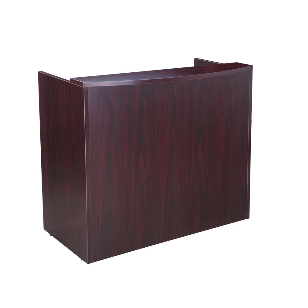 Glazed reception desk 48wx26dx41 5h mahogany ebay - Reception desk ebay ...