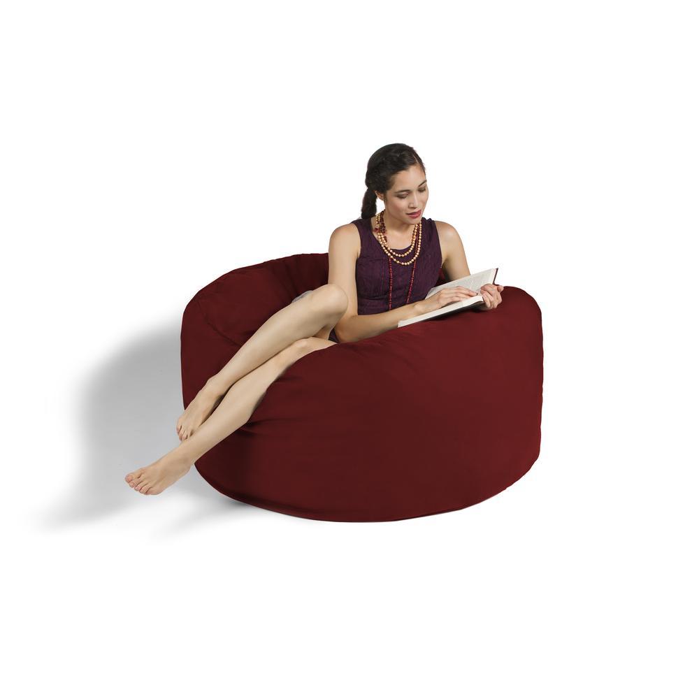 jaxx 4 bean bag chair, cinnabar