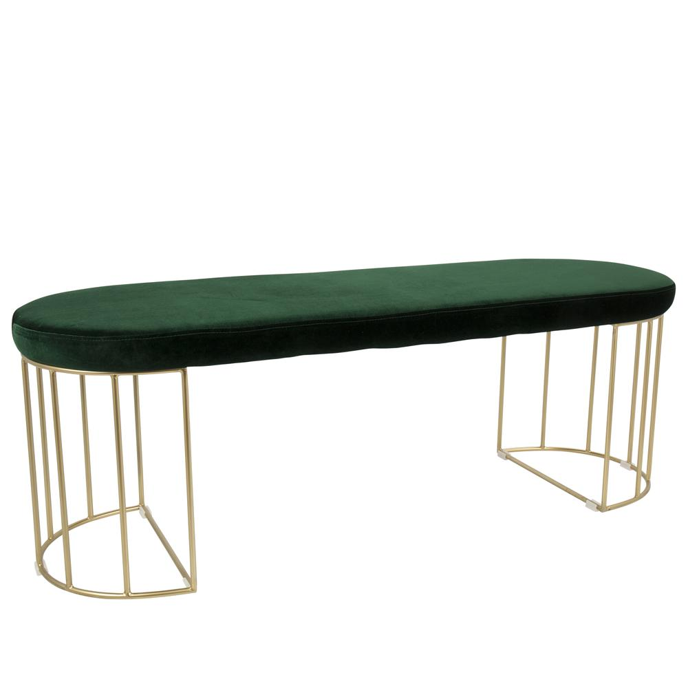Fine Details About Canary Contemporary Glam Dining Entryway Bench In Gold And Green Velvet By Dailytribune Chair Design For Home Dailytribuneorg