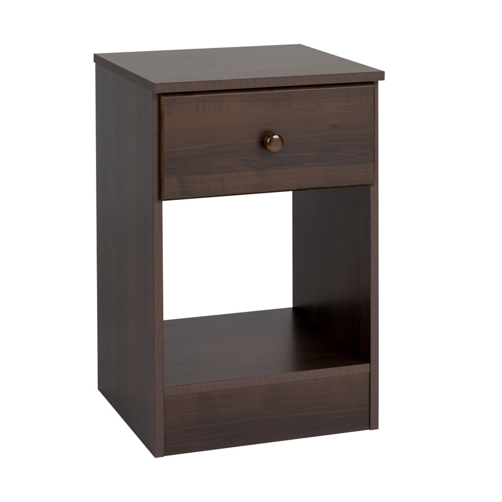 Prepac Astrid Tall 1 Drawer Night Stand Black Ebay
