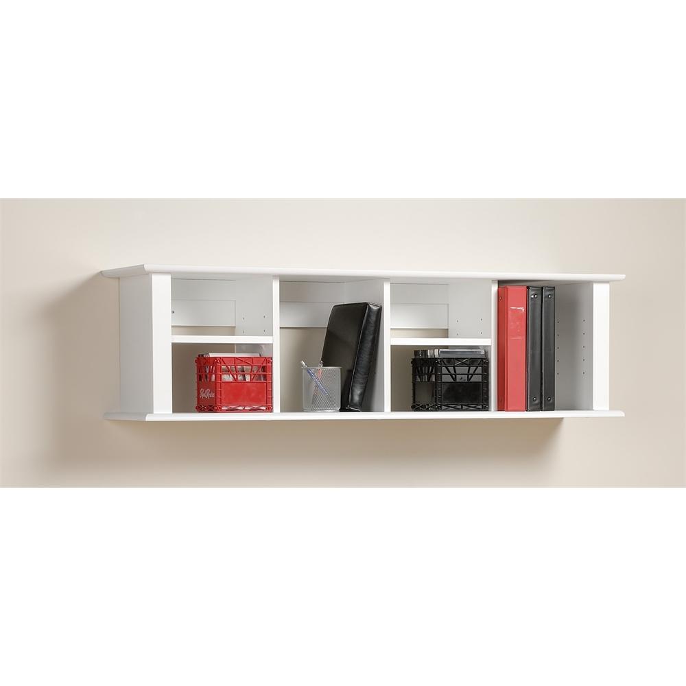 Prepac White Wall Mounted Desk Hutch Ebay
