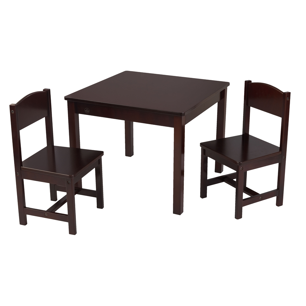 Kids Table And Chairs Set Espresso: KidKraft Aspen Table And 2 Chair Set - Espresso