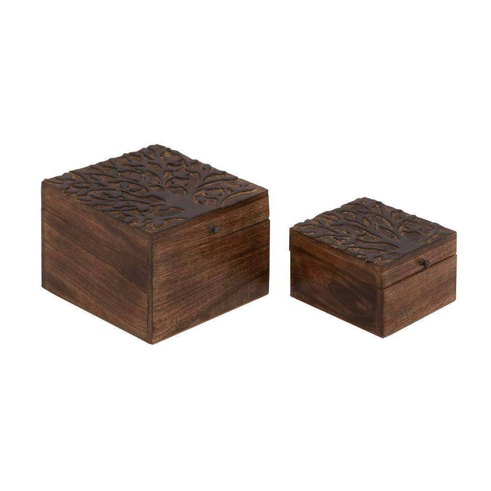 Benzara Well Designed Smart Wood Carved Box : eBay