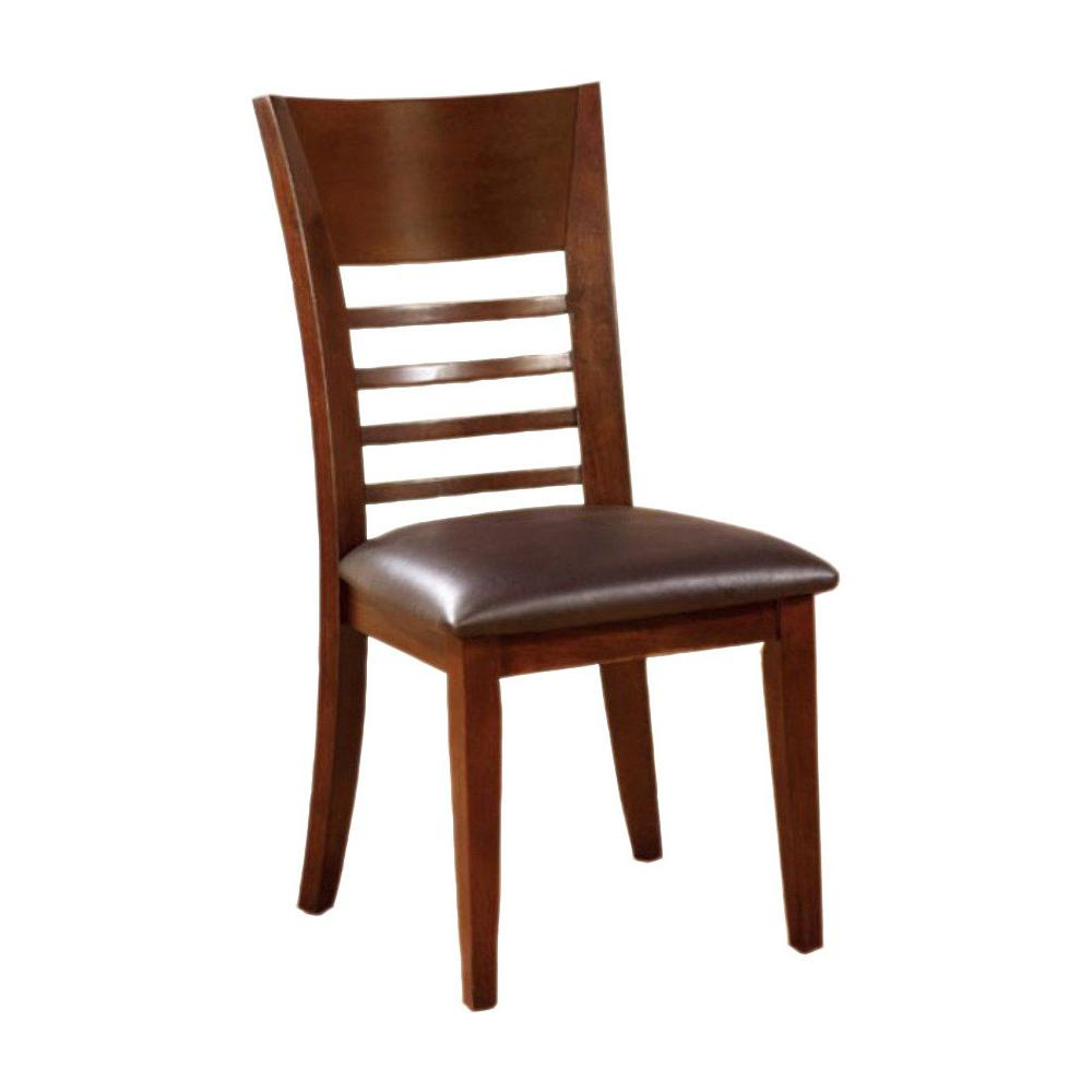Hillsview I Transitional Side Chair Brown Cherry Set Of