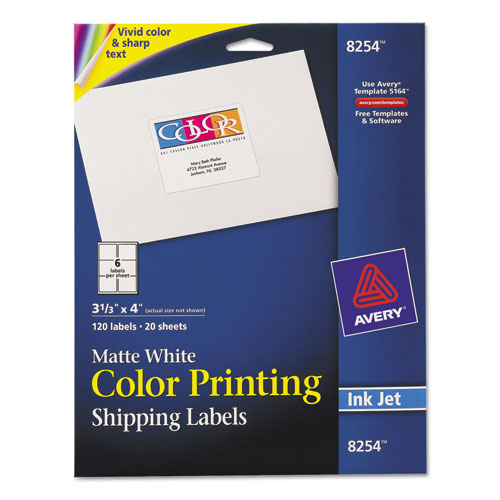 avery 1 x 4 label template - avery vibrant color printing shipping labels 3 1 3 x 4