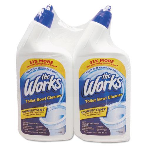 The Works Disinfectant Toilet Bowl Cleaner 32 Oz Bottle