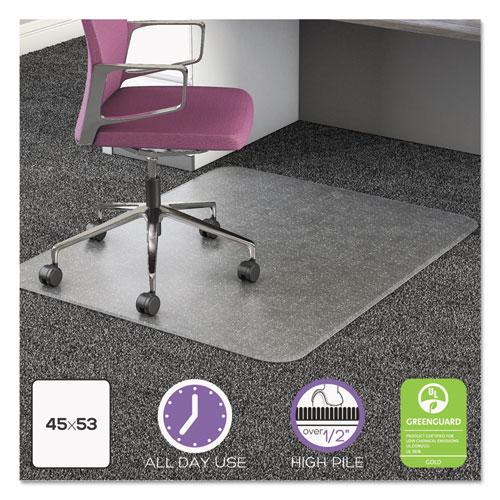 Deflecto ultramat all day use chair mat for high pile carpet 45 x 53 clear ebay - Deep pile carpet protector ...