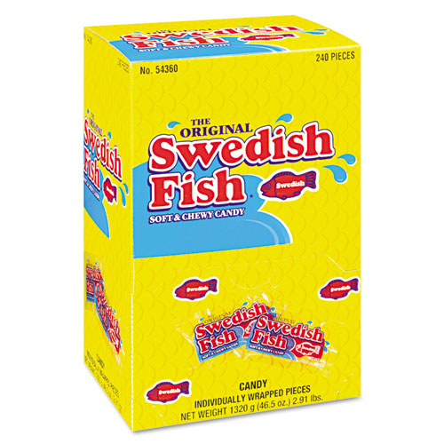 Swedish fish grab and go candy snacks in reception box for What flavor are swedish fish